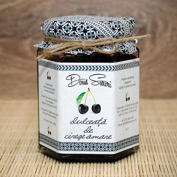 Dulceata de cirese negre amare 210 gr
